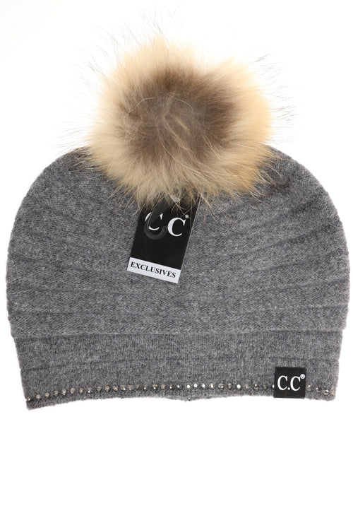 CC EXCLUSIVE - BLACK LABEL SPECIAL EDITION RIDGED RHINESTONE CC BEANIE