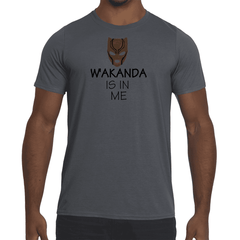 Mens W'akanda Graphic Performance fitted T-shirt.