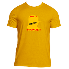 Mens Anti-Deplorable Graphic Performance Fitted T-shirt.
