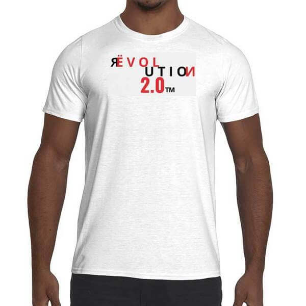 Mens Revolution 2.0 Graphic Performance fitted t-shirt.