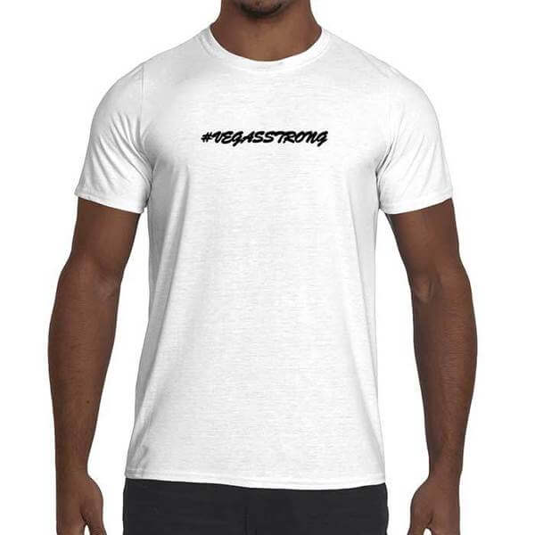 Mens Vegas Strong Graphic Performance T-Shirt.