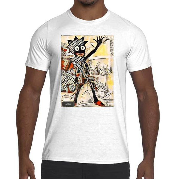 Mens Masol Graphic performance fitted t-shirt.