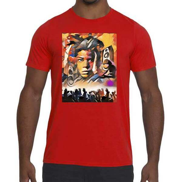 Mens Hemp Rally Graphic Performance fitted t-shirt.
