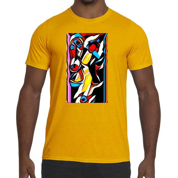 Mens Kickstarter Graphic Performance fitted T-Shirt.