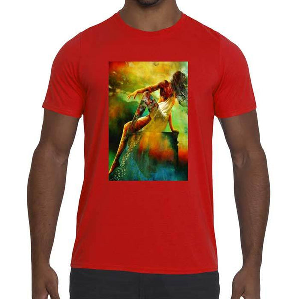 Mens Seductress Graphic Performance fitted t-shirt