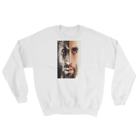 Mens 2-Faced Secario Graphic sweatshirt.