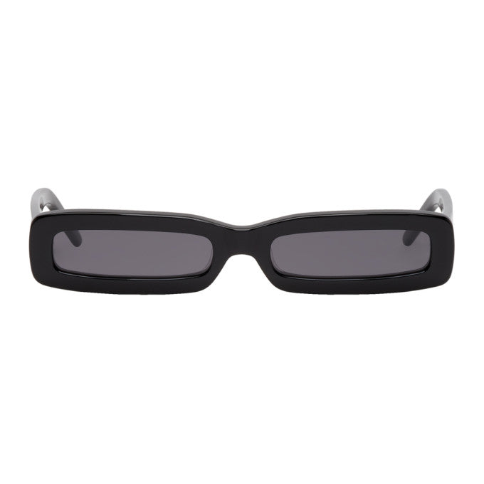 Black Long Rectangular Sunglasses