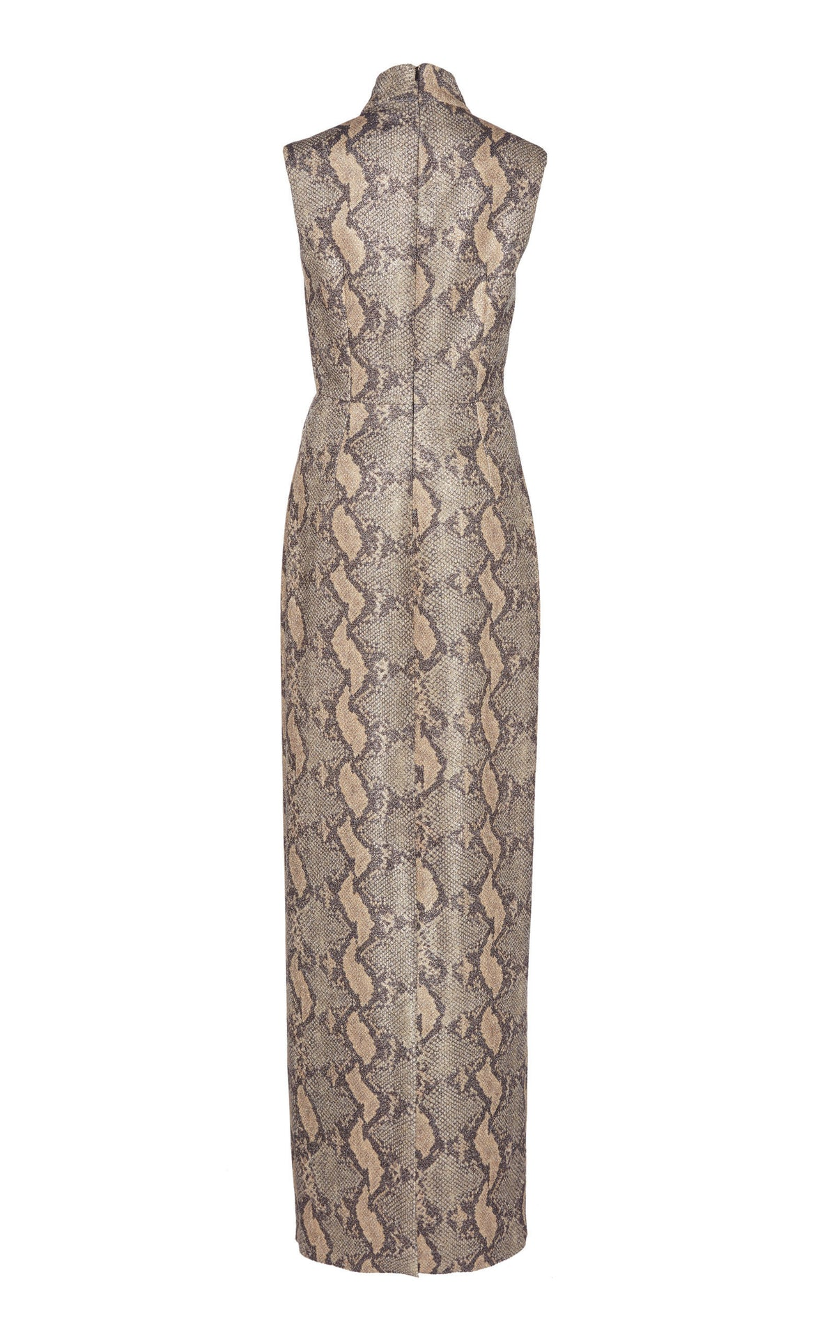 Georgina Snake-Effect Crepe Gown