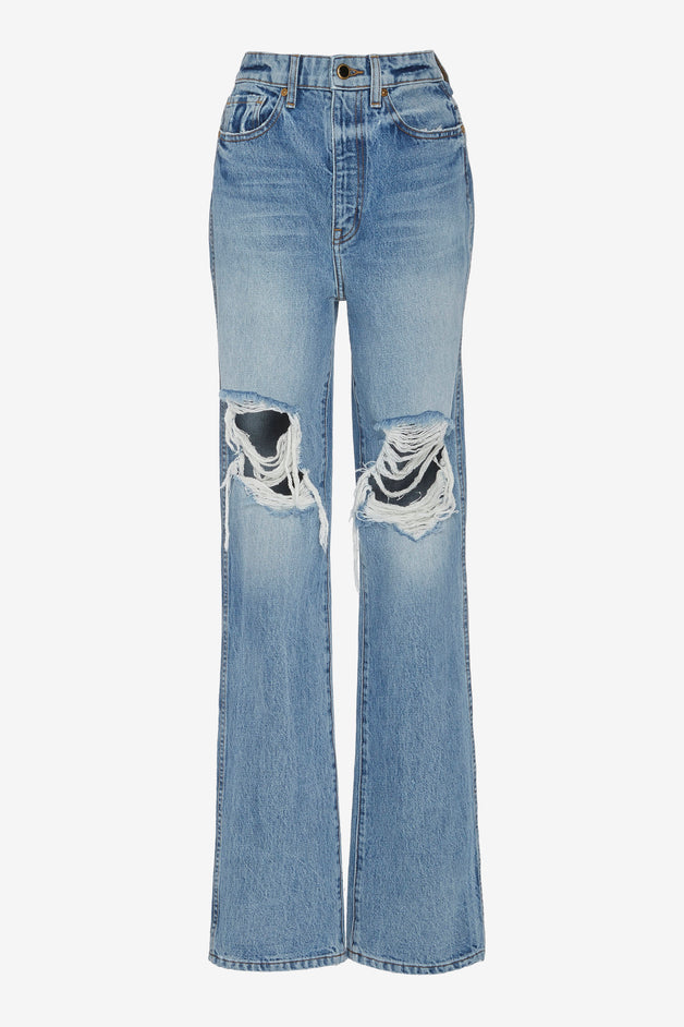 Danielle Distressed High-Rise Jeans