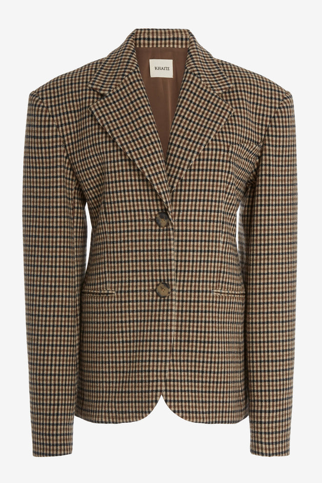 Kendall Checked Wool-Blend Blazer