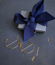 Load image into Gallery viewer, Geometric Hoop Earrings in Gold