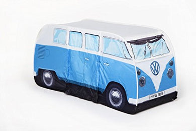 VW Volkswagen T1 Camper Van Kids Pop-Up Play Tent - Blue -Indoors or Outdoors-Multi-Color - Refresh The Camping Spirit