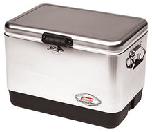 Coleman Steel-Belted Heavy Duty Portable Cooler, 54 Quart, Stainless Steel-54 Quart - Refresh The Camping Spirit
