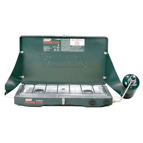 Coleman Green Classic Propane Stove- 2 Burners - Refresh The Camping Spirit