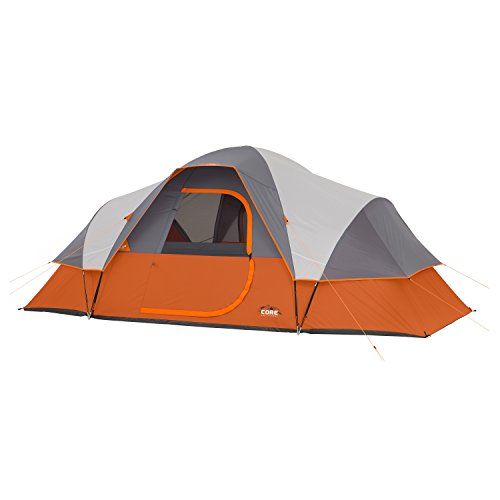 CORE 9 Person Extended Dome Lightweight Tent - 16' x 9' Top Selling Tent on Amazon