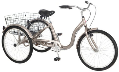 Schwinn Meridian Tricycle (26-Inch Wheels), 3 Wheel Bike Dark Silver - Refresh The Camping Spirit