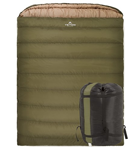TETON Sports Mammoth 0f Queen Size Sleeping Bag Double Z Refresh The Camping Spirit