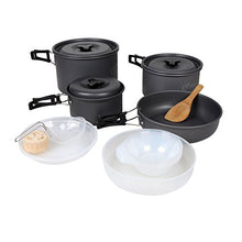 Yodo Anodized Aluminum Camping Cookware Set Backpacking Pans Pot Mess Kit for 4-5 Person - Refresh The Camping Spirit