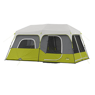CORE 9 Person Instant Cabin Tent - 14' x 9'-Instant 60 Sec Set Up-Advanced Venting System - Refresh The Camping Spirit