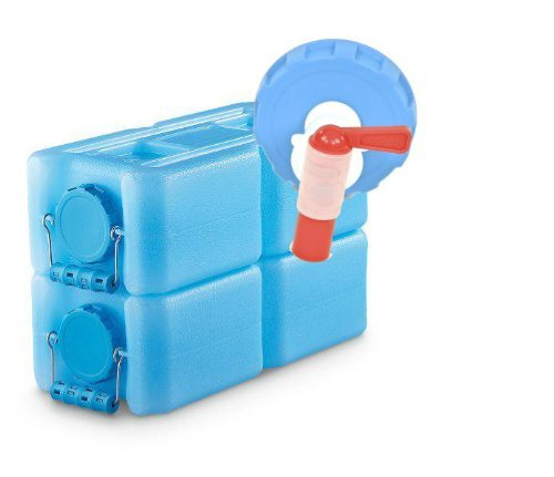 WaterBrick Long Term Emergency Survival Water Storage - 2 Pack Blue with Spigot Container - Refresh The Camping Spirit