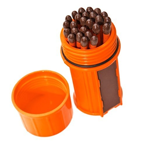 UCO Stormproof Match Kit with Waterproof Case, 25 Stormproof Matches and 3 Strikers - Survival - Refresh The Camping Spirit