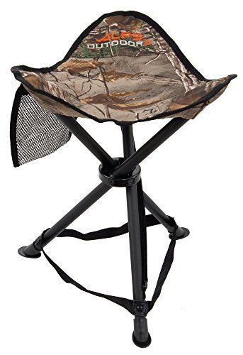 ALPS OutdoorZ Tri-Leg Stool, Realtree Xtra- Camping, Hunting, Fishing Chair-Holds 250 lbs - Refresh The Camping Spirit