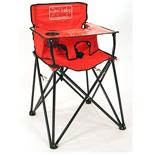 Ciao! Baby Portable Travel Camping Picnics Highchair, Red - Refresh The Camping Spirit