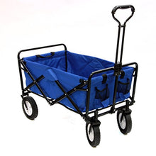 Mac Sports Folding Outdoor Camping Beach, Park, Utility Wagon, Blue-Holds 150 lbs - Refresh The Camping Spirit