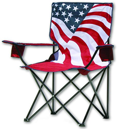 Quik Chair US Flag Folding  Camp Sports Chair - Refresh The Camping Spirit