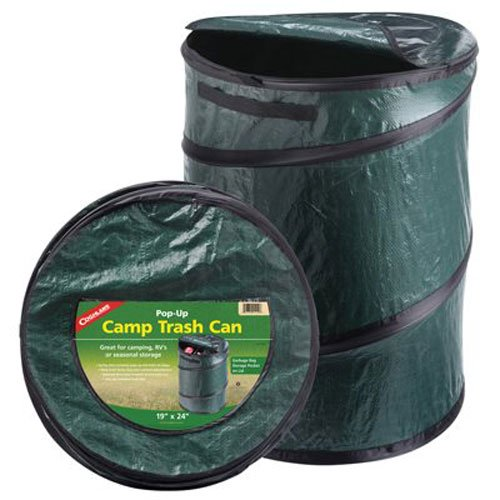 Coghlan's Pop-Up Camp Lightweight Zippered Trash Can - Refresh The Camping Spirit