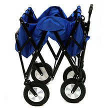 Mac Sports Folding Outdoor Camping Beach, Park, Utility Wagon, Blue-Holds 150 lbs