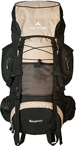 TETON Sports Scout 3400 Internal Frame Backpack; with a New Limited Edition Color; Free Rain Cover Included- Very High Ranked 5 stars - Refresh The Camping Spirit