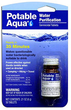 Potable Aqua Water Purification Tablets (50 Tablets) - For Camping and Survival  Portable Emergency Drinking Water - Refresh The Camping Spirit