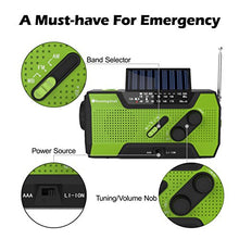 RunningSnail Solar Crank NOAA Weather Radio For Emergency with AM/FM, Flashlight, Reading Lamp And 2000mAh Power Bank - Refresh The Camping Spirit
