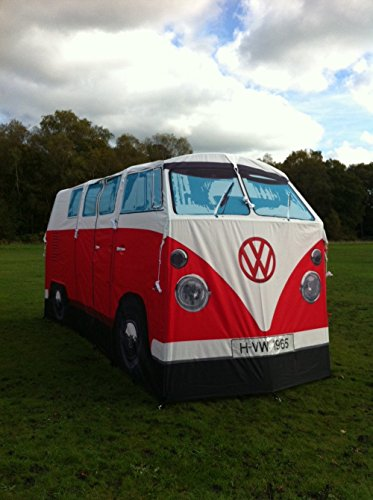 VW Volkswagen T1 C&er Van Adult C&ing Tent - Sleeps 4-Red - Multip u2013 Refresh The C&ing Spirit & VW Volkswagen T1 Camper Van Adult Camping Tent - Sleeps 4-Red ...
