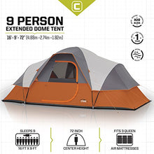 CORE 9 Person Extended Dome Lightweight Tent - 16' x 9' Top Selling Tent on Amazon - Refresh The Camping Spirit