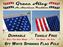 Flag Pole: Tangle Free Spinning Flagpole Residential or Commercial 6ft Flag Pole (White) - Refresh The Camping Spirit