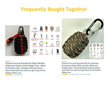 Paracord Survival Grenade Kit (28pc) Ultimate Wilderness Military Grade Prepper Gear--Water Purification Tabs--Camping Hiking Hunting--Moms Feel Safe! Your Kids can get Food, Fire & Shelter When Lost - Refresh The Camping Spirit