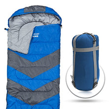 Sleeping Bag – Envelope Lightweight Portable, Waterproof, Comfort With Compression Sack - Great For 4 Season Traveling, Camping, Hiking, & Outdoor Activities. (SINGLE) - Refresh The Camping Spirit