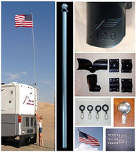 RV Flag Pole Kit Motorhome Flag Kit by FlagPole Buddy 22 Feet-Adjusts to fit ladder - Refresh The Camping Spirit