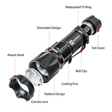 J5 Tactical V1-Pro Flashlight The Original 300 Lumen Ultra Bright, LED 3 Mode Flashlight - Refresh The Camping Spirit