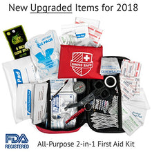 2018 Premium First Aid Kit (120 Piece) + Bonus 32-Piece Mini First Aid Kit: Compact, Lightweight for Emergencies at Home, Outdoors, Car, Camping, Workplace, Hiking & Survival - Refresh The Camping Spirit