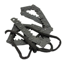 Camping Hiking Emergency Survival Hand Tool Gear Pocket Chain Saw Carbon Steel Teeth Wire Saw BHU2 - Refresh The Camping Spirit
