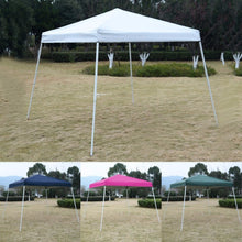 EZ POP UP Tent Gazebo Shelter 10'X10' GOPLUS Wedding Party Camping Canopy with Carry Bag - Refresh The Camping Spirit