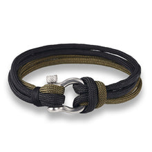 New Arrival- Jewelry Navy Style Sport Camping Parachute Paracord Survival Chain Bracelet Unisex with Stainless Steel Shackle Buckle-2 Choices - Refresh The Camping Spirit