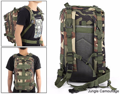 25L Jungle Camouflage Unisex Lightweight Outdoor Military Army Tactical Backpack Trekking Rucksack Camping Hiking Bag