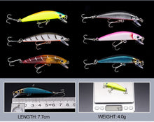 2017 Minnow JIADIAONI 43pcs Fly Fishing Lure Set Hard Bait Jia Lure Wobbler Carp 6 Models Fishing Tackle - Refresh The Camping Spirit