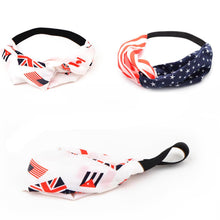 Women-Girls  American Flag Patriotic Sport Sweatband Stretch Headband- Bandana Head wrap Hair Accessories - Refresh The Camping Spirit