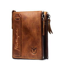 BullCaptain  Retro Genuine Soft Leather Unisex Money Folding Wallet-Free Shipping to 48 US - Refresh The Camping Spirit