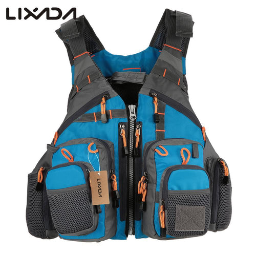 New 2017 Lixada Outdoor Fishing Vest Life Safety Jacket Swimming Boating  Flotation- 11 Zippered Pockets - Refresh The Camping Spirit